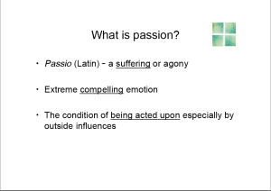 What is Passion